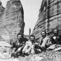 Στους βράχους στα Μετέωρα 1950