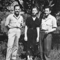 1954, Aleksandros Sgouros, Mary Pityriga, Nikolaos Leontaris. Photo prise à Farma