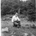 1963, Νικόλαος Δημ. Λεοντάρης, στο δρόμο Καστανιάς -Τρία ποτάμια λίγο πιο κάτω από Κιάτρα Μπρουάστα