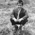 1964, ο γιός μου Παύλος Νικ. Λεοντάρης, στον κήπο του Αριστοτέλη Ζουρνά