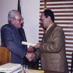 04 Μαρτίου 2000, Απονομή διπλώματος τιμής απο τον Φ.Ι.Λ.Ο.Σ. και τον πρόεδρο του Θεόδωρο Νημά